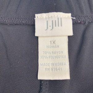 J. Jill Pants - J. Jill Black Wide Leg Stretch Pull On Pants 1X